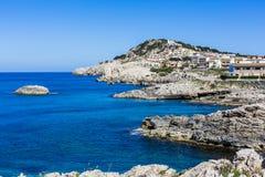 Cala Agulla, Majorca, Hiszpania obrazy royalty free