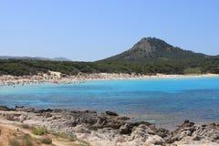 Cala Agulla strand Arkivbild