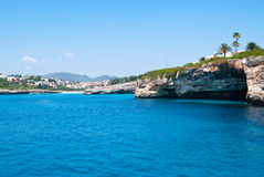 Cala Anguila bay from the Sea, Majorca, Spain Stock Image