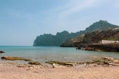Cala Barques. Beautiful view at Cala Barques / Cala San Vincente royalty free stock image