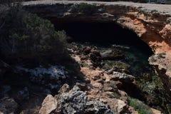 Cala Bassa efter havet royaltyfri fotografi
