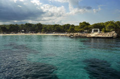 Cala Bassa (Ibiza). View of the beach of Cala Bassa in the north of the island of Ibiza Royalty Free Stock Photo