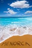 Cala Binimela in Menorca at Balearic islands Royalty Free Stock Photography