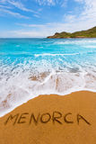 Cala Binimela in Menorca at Balearic islands Royalty Free Stock Image