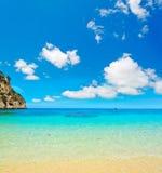 Cala Biriola beach under soft clouds Royalty Free Stock Image