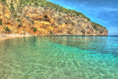 Cala Biriola on a clear day in hdr Royalty Free Stock Photo