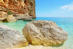 Cala Biriola rocky shore Stock Photography