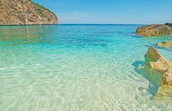Cala Biriola shoreline Stock Image