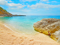 Cala Biriola shoreline Royalty Free Stock Photos