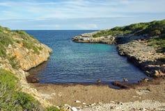 Cala Brafi海滩 图库摄影