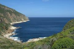 Cala Calcara (Levanzo). Sicilian coast and mediterranean vegetation Royalty Free Stock Photo