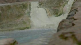 Cala caliente del agua mineral metrajes
