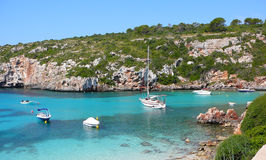 Cala Canutells beach and ocean Stock Photography
