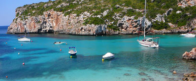 Cala Canutells beach and ocean Royalty Free Stock Image