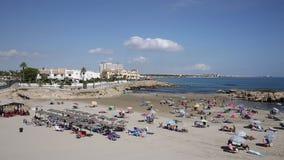 Cala Capitan Playa αμμώδης παραλία κοντά στο Λα Zenia Ισπανία απόθεμα βίντεο