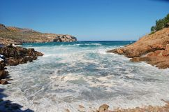 Cala Carbo plaża, Majorca wyspa obrazy stock