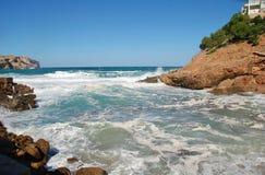 Cala Carbo plaża na Majorca obrazy stock