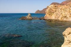 Cala Chicre beach at Cabo de Gato National park stock photo