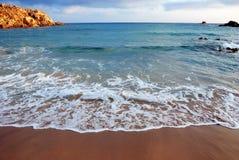Cala cipolla in Sardinien Stockbilder