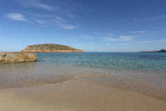 Cala comte beach in Ibiza island Royalty Free Stock Image