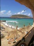 Cala Comte - Ibiza stockfoto