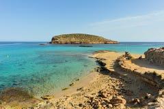 Cala Conta, Ibiza, España Imagen de archivo libre de regalías