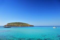 Cala Conta, Ibiza Spanien Stockbilder