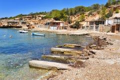 Cala Corral cove in Ibiza Island, Spain Stock Photos