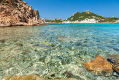 Cala Corsara bay in Sardinia Royalty Free Stock Images