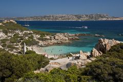 Cala Corsara, wonderful Seawater in Spargi Stock Image