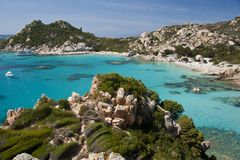 Cala Corsara, wonderful Seawater in Spargi Royalty Free Stock Photography