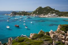 Cala Corsara, wonderful Seawater in Spargi Royalty Free Stock Image