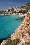 Cala Corsara, wonderful Seawater in Spargi Stock Images