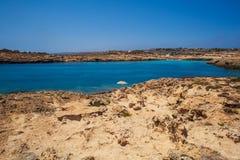 Cala Croce beach, Lampedusa. View of Cala Croce beach in Lampedusa, Sicily. Italy stock image
