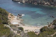 Cala d'en Serra Beach and Cove, Portinatx; Ibiza Stock Images