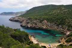 Cala d en Serra in Ibiza Royalty Free Stock Photos