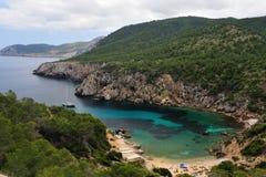 Cala d en Serra in Ibiza. A small beach in the north of the island Royalty Free Stock Photos