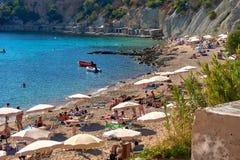 Cala d`Hort beach Royalty Free Stock Photo