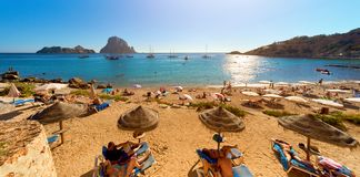 Cala d`Hort beach. Ibiza Island Royalty Free Stock Photo