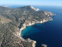 Cala DÂ'hort, Ibiza, Espanha foto de stock royalty free