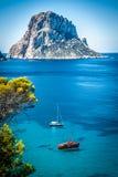 Cala d'Hort, Ibiza (Spanien) Arkivfoton