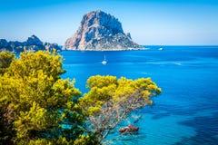 Cala d'Hort, Ibiza (Spanje) stock foto