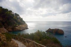 Cala de Ambolo西班牙 图库摄影