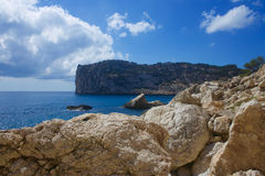 Cala de Ambolo - Javea -西班牙 免版税库存图片