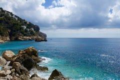 Cala de Ambolo - Javea - la Spagna fotografia stock