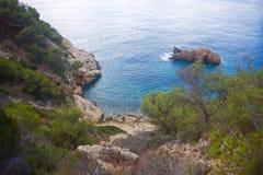 Cala de Ambolo - la Spagna immagini stock libere da diritti