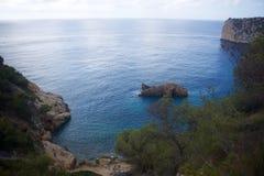 Cala de Ambolo - la Spagna fotografia stock