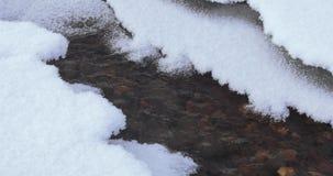 Cala de congelación en el hielo almacen de metraje de vídeo