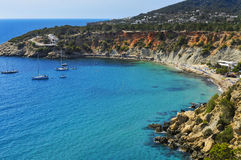 Cala de Hort cove in Ibiza Island, Spain Stock Photos