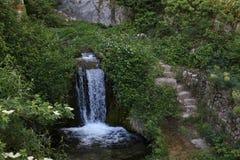 Cala de la cascada en la reserva Verdon Foto de archivo libre de regalías